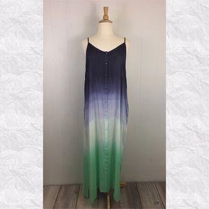 Raviya Spaghetti Strap Tie Dye Ombré Maxi Dress
